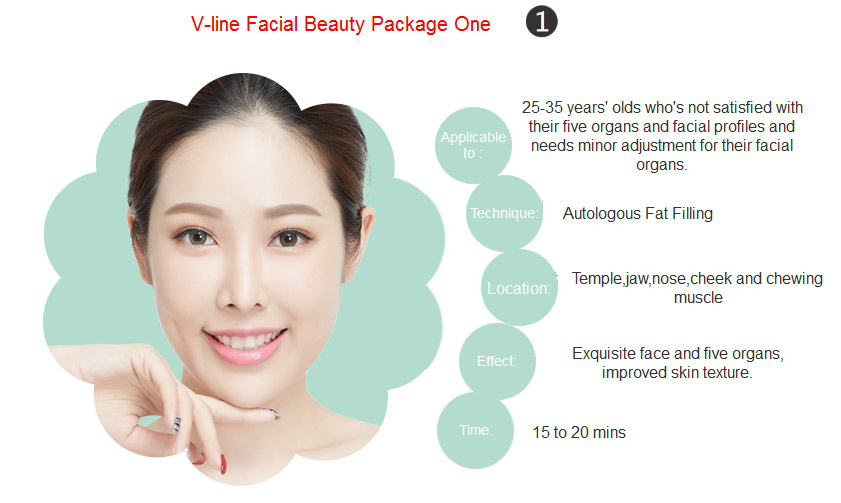 V-line facial package one