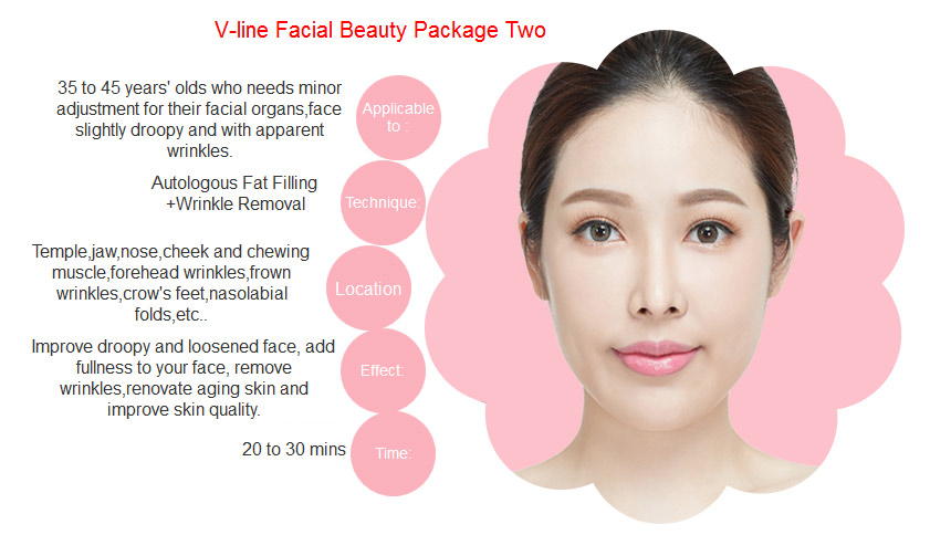 V-line facial package two