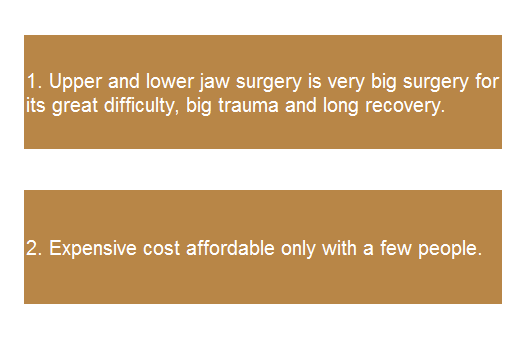 disadvantages of jaw surgery for convex mouth