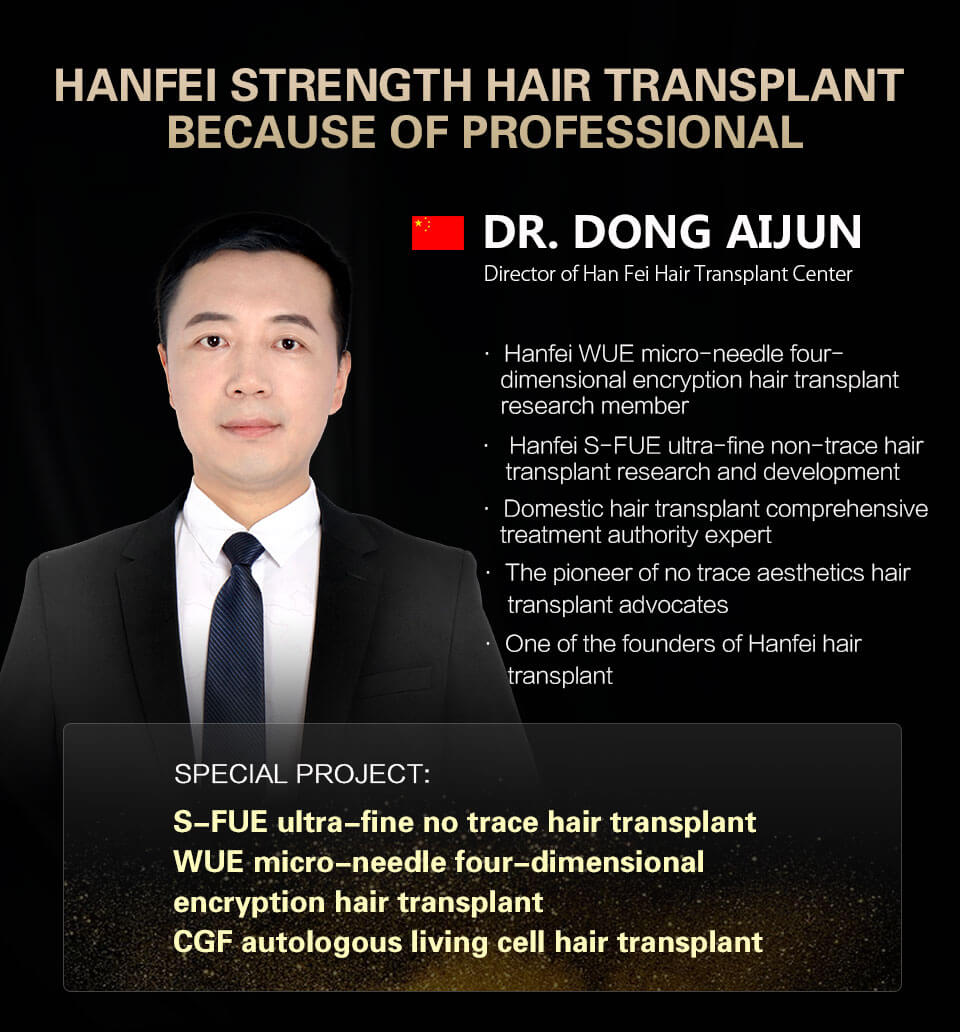 doctor zhao jin dedicated in hair transplant